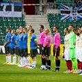 Eesti ja Armeenia koondised Lilleküla staadionil.