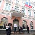 Aleksei Navalnõi toetusmeeleavaldus Vene saatkonna juures