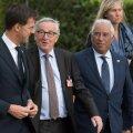 Mark Rutte, Jean-Claude Juncker ja António Costa