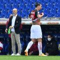 Kaks väravasöötu andnud Ibrahimovic sai kohtuniku solvamise eest punase