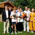 Perekond Objartel koos regionaalministri Siim Valmar Kiisleri ja teiste külalistega. Foto: Alar Tasa