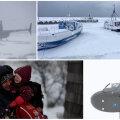 ФОТО и ВИДЕО: На острове Прангли застряли люди. Вертолет ВВС Эстонии доставил их на материк
