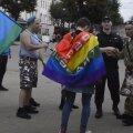 """Российский активист был избит за плакат """"Геи тоже служат в ВДВ"""""""