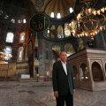 Türgi president Recep Tayyip Erdoğan Hagia Sophias