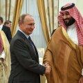 Naftasõja kaks peategelast: Vene riigipea Vladimir Putin ja Saudi Araabia kroonprints Mohammed bin Salman 2018. aastal Moskvas.