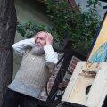 """""""Poeetilise punase raamatu"""" esitlus Ukraina Kultuurikeskuses. Anatoli Ljutjuk tutvustab Mehaanilist Moraali Teatrit."""