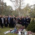 ÄRASAATMINE: Helve Poska matused. 95aastane Poska suri Rootsis 14. aprillil koroonaviiruse tagajärjel.