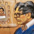 Kunstniku kujutis Keith Raniere´i kohtuprotsessist