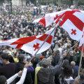 Saakašvili juhitud Gruusia opositsioon kutsus parlamendivalimiste järel massiliselt meelt avaldama