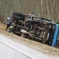 ФОТО | В Центральной Эстонии столкнулись два грузовика