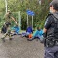 Leedu, migrandid, piir, põgenikud
