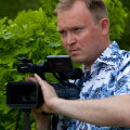 Aleksei Aleksejev suvel filmivõttel. Foto: Lembit Michelson