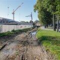 DELFI FOTOD: Trammirööpad on Balti jaama juurest kadunud, ehitajad samuti