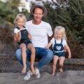 KAHE PRINTSESSIGA Teet Saarepera koos tütarde Säde-Ly ja Säraga.