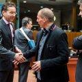 Министры финансов Греции, Голландии и Хорватии на встрече в Брюсселе