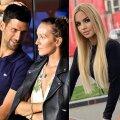 Novak ja Jelena Djokovic ning Natalija Scekic