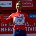 Rein Taaramäe Vuelta liidrile mõeldud särgis.