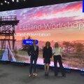 Visit Estonia esitlus Saksa turismiprofessionaalidele ning kohtumised Eesti ettevõtjatega, fotol vasakult Florian Marcus (E-Eesti esitluskeskus), Evely Baum (EASi turismiarenduskeskuse Hamburgi esindaja), Kristiina Talisainen (EASi turismiarenduskeskuse B2B projektijuht)