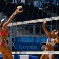 Латвийские волейболистки проигрывают в матче за бронзу