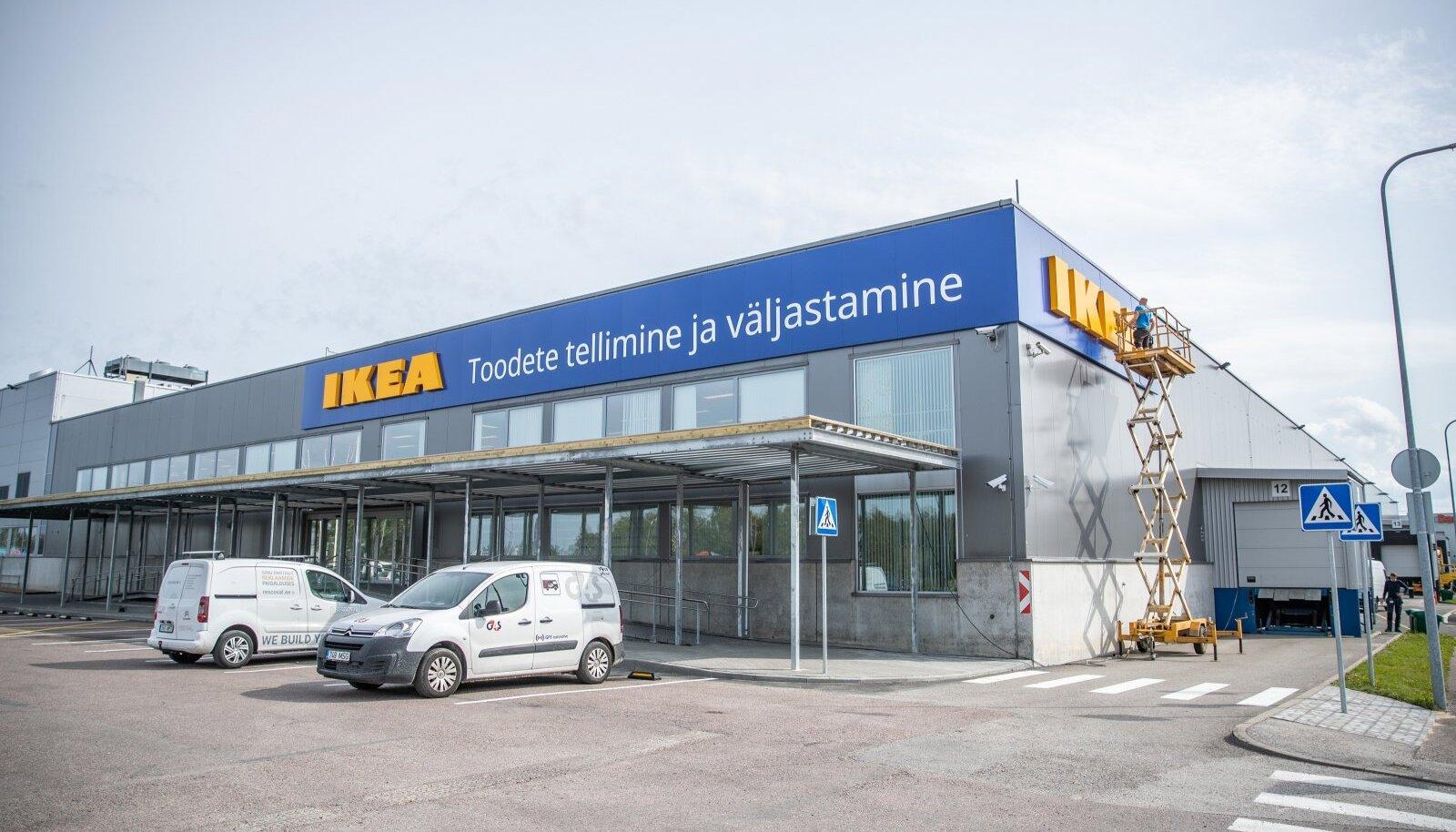 Eesti IKEA väljastuspunkt enne avamist