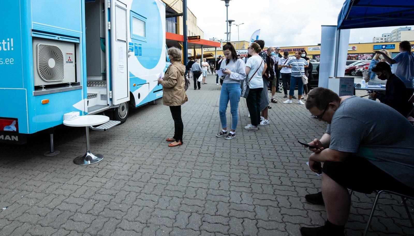 Vaktsineerimiskeskus Lasnamäel 12.08.2021