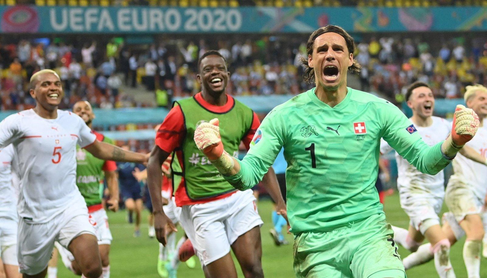 Šveits võitis pärast 67 aasta pikkust pausi suurturniiril play-off'i kohtumise.