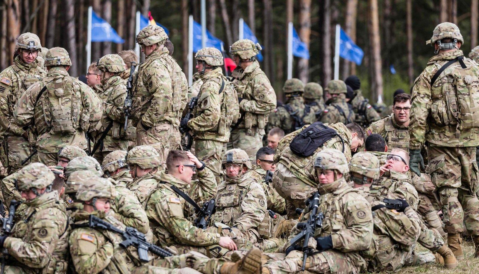 USA sõdurid Poolas