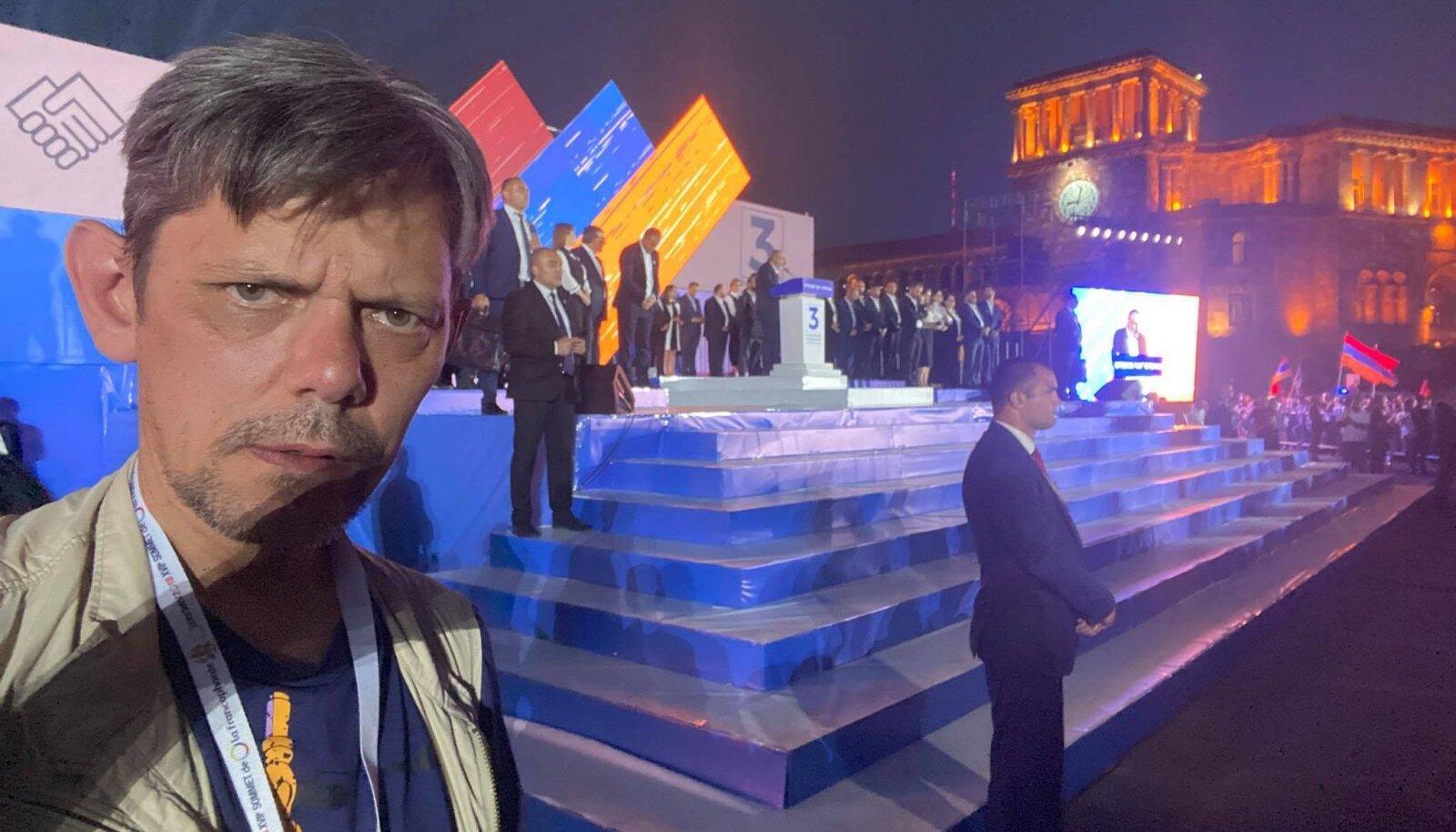 Anton Aleksejev Nikol Pašinjani miitingul