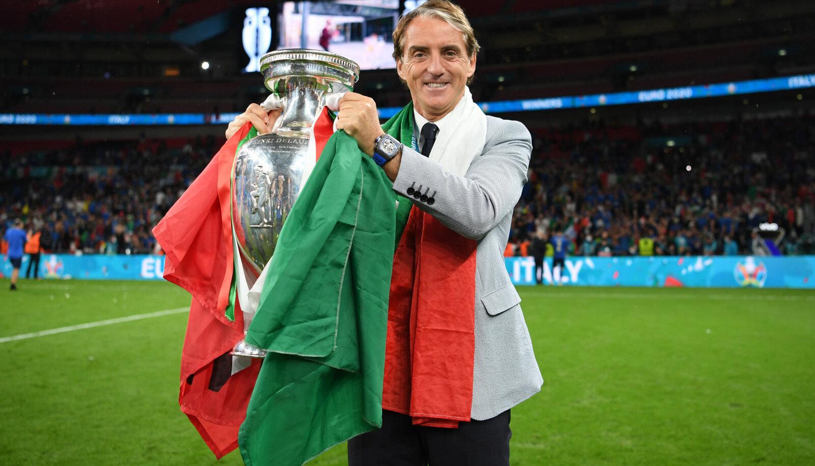 Itaalia koondise peatreener Roberto Mancini