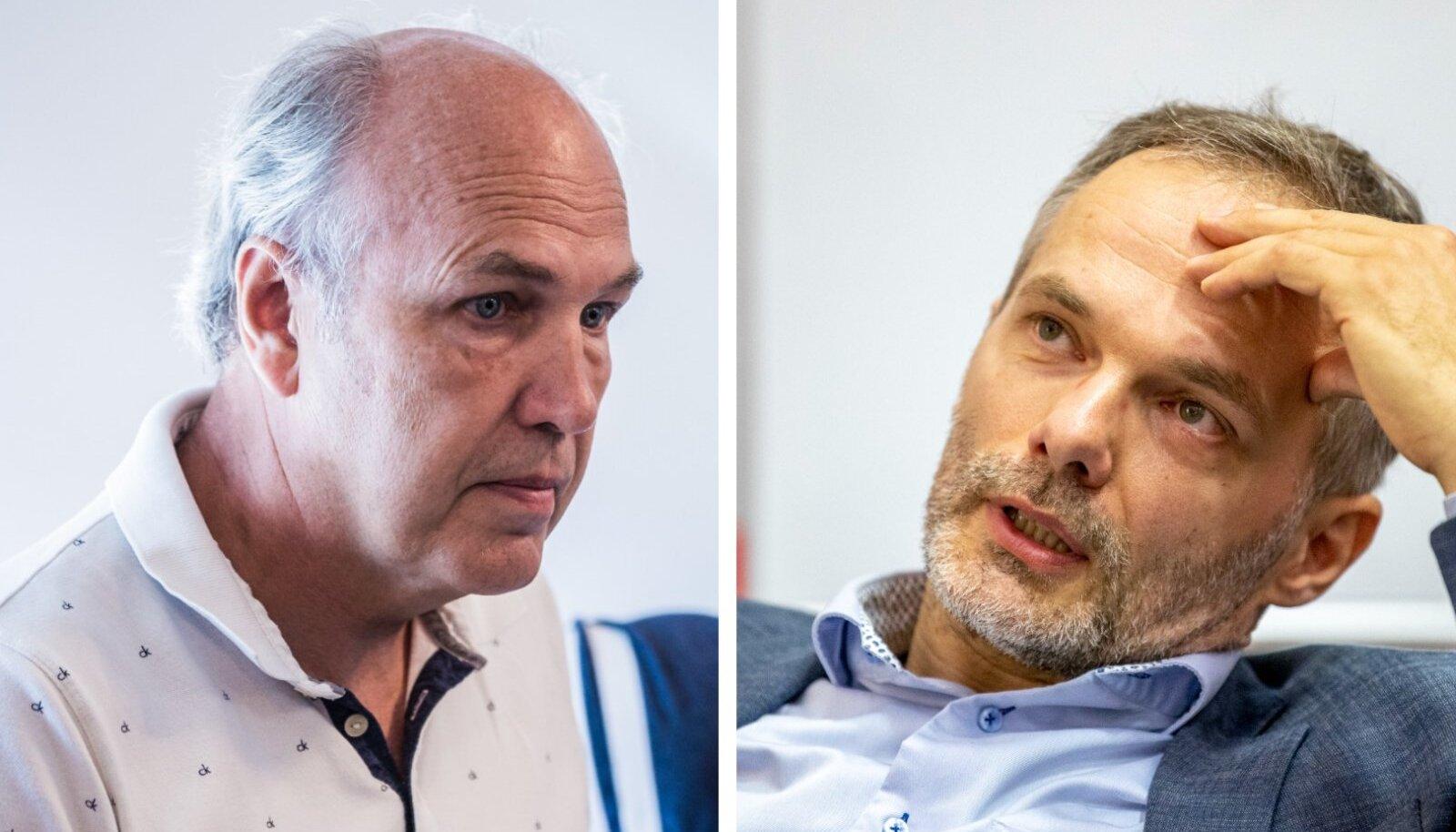 Vasakul Aivar Kokk, paremal Meelis Oidsalu.