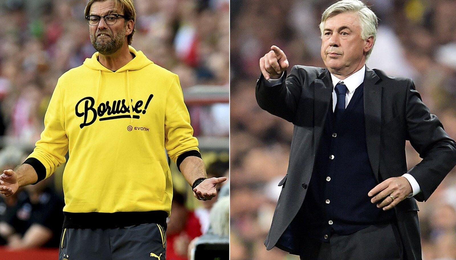 Jürgen Klopp ja Carlo Ancelotti