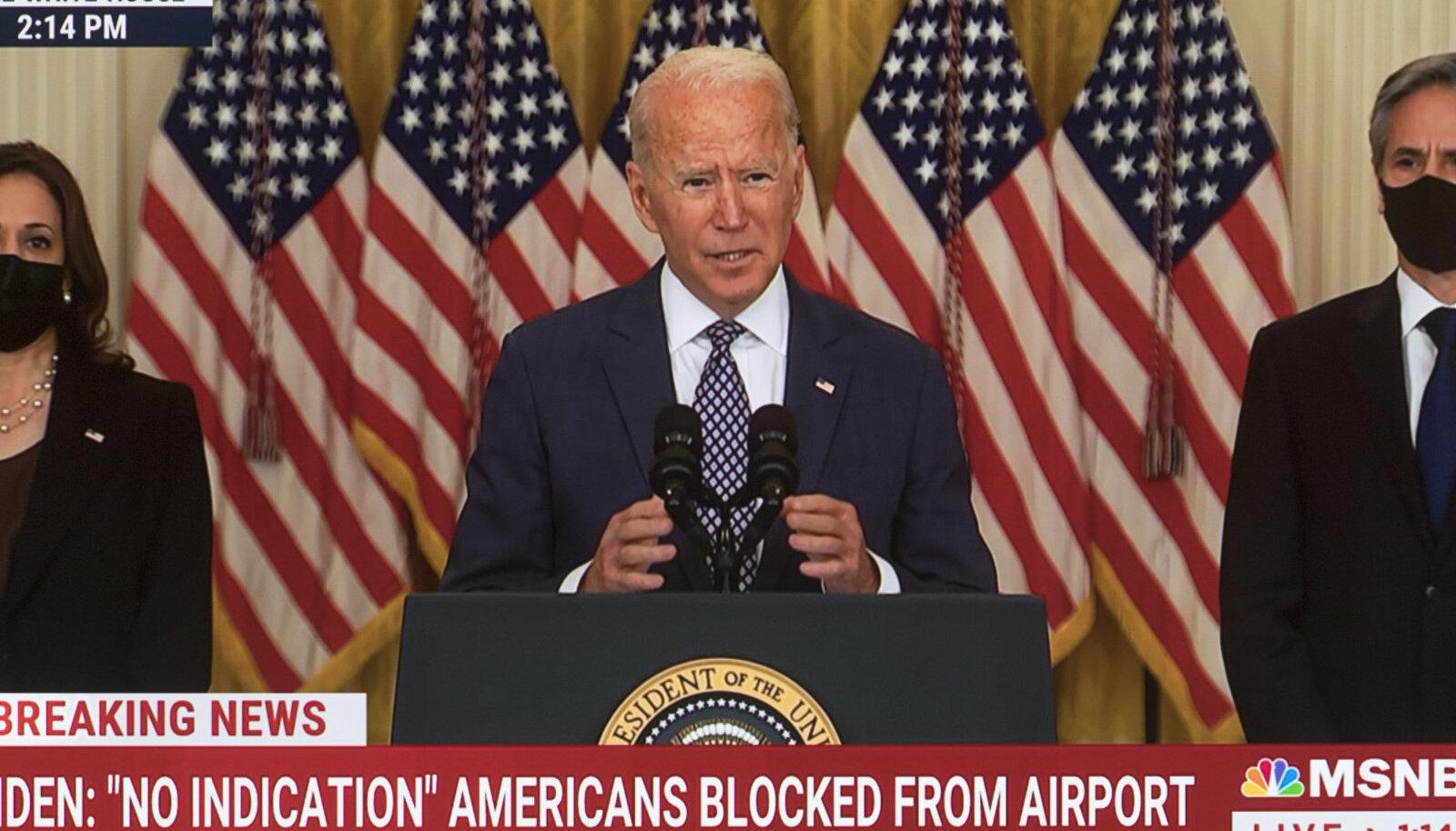 USA riigipea Joe Biden eile Valges Majas.