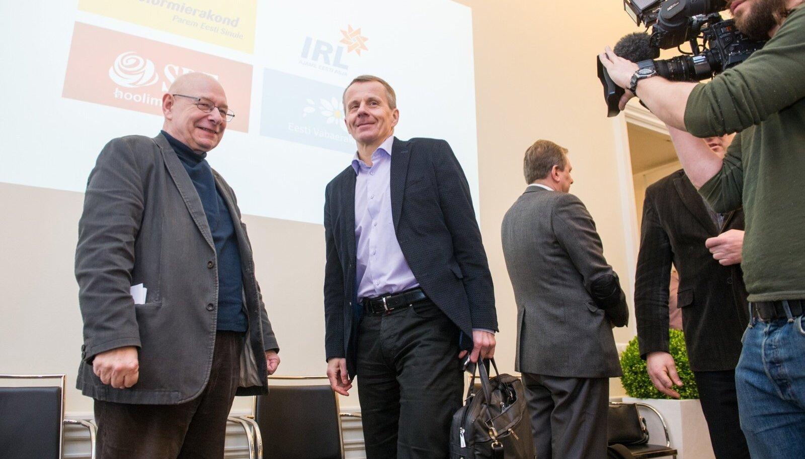 Jüri Adams ja Jürgen Ligi koalitsioonikõnelustel