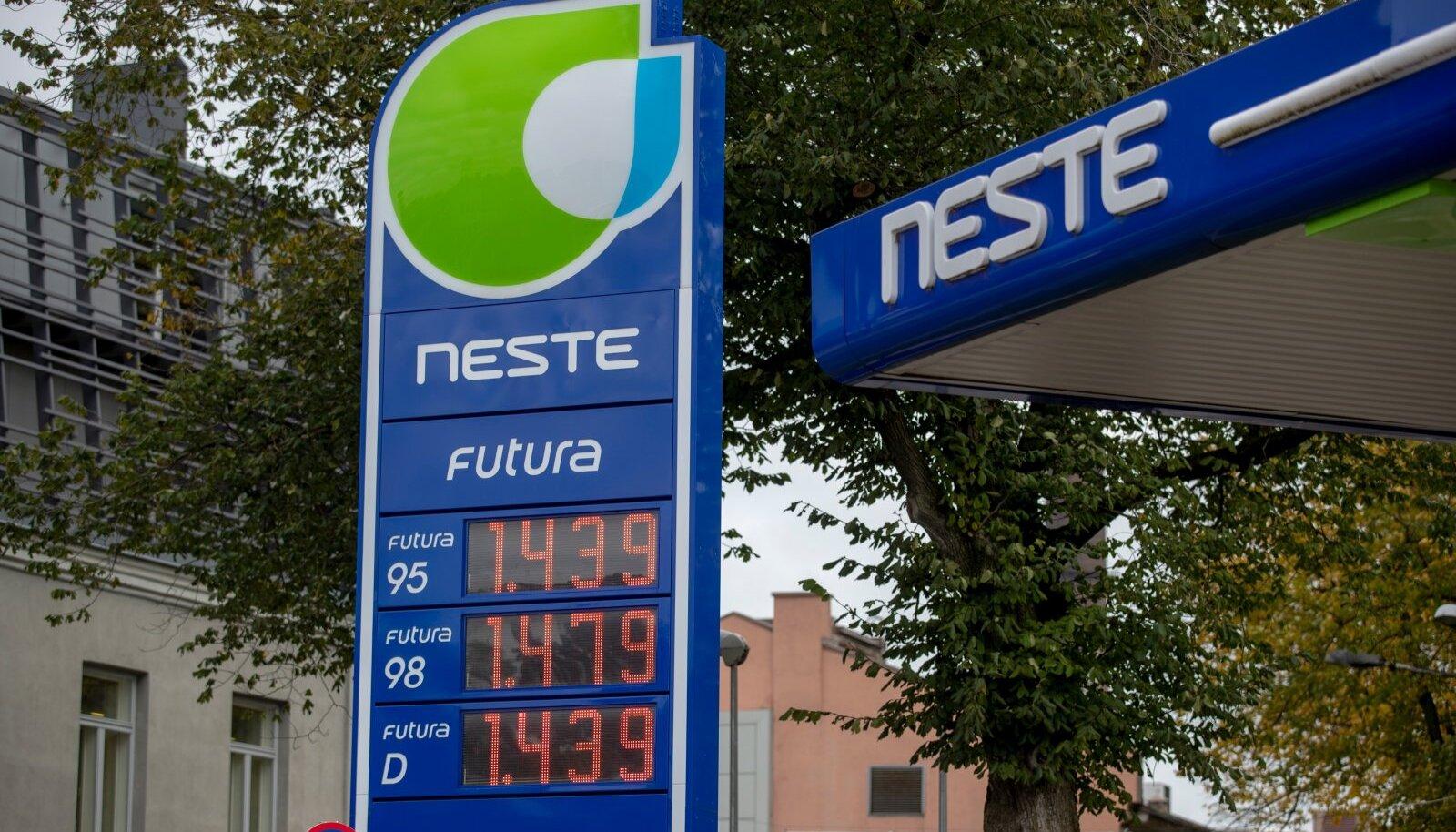Olerex, Circle K, Neste, kütuse hinnad
