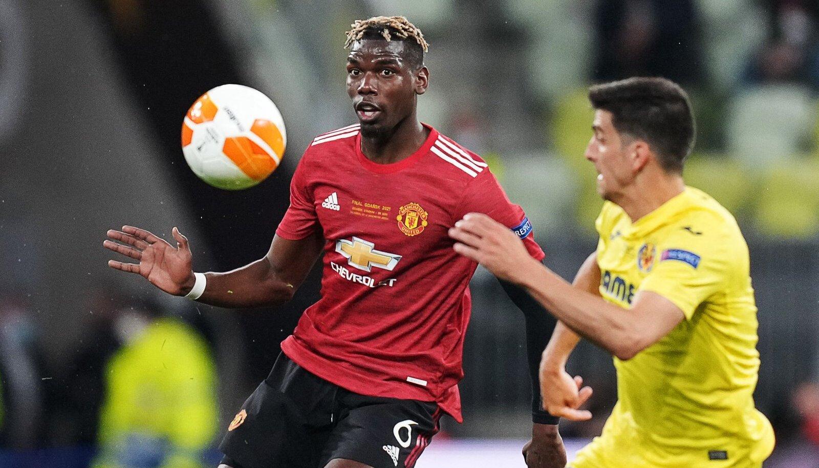 Paul Pogba Manchester Unitedi eest