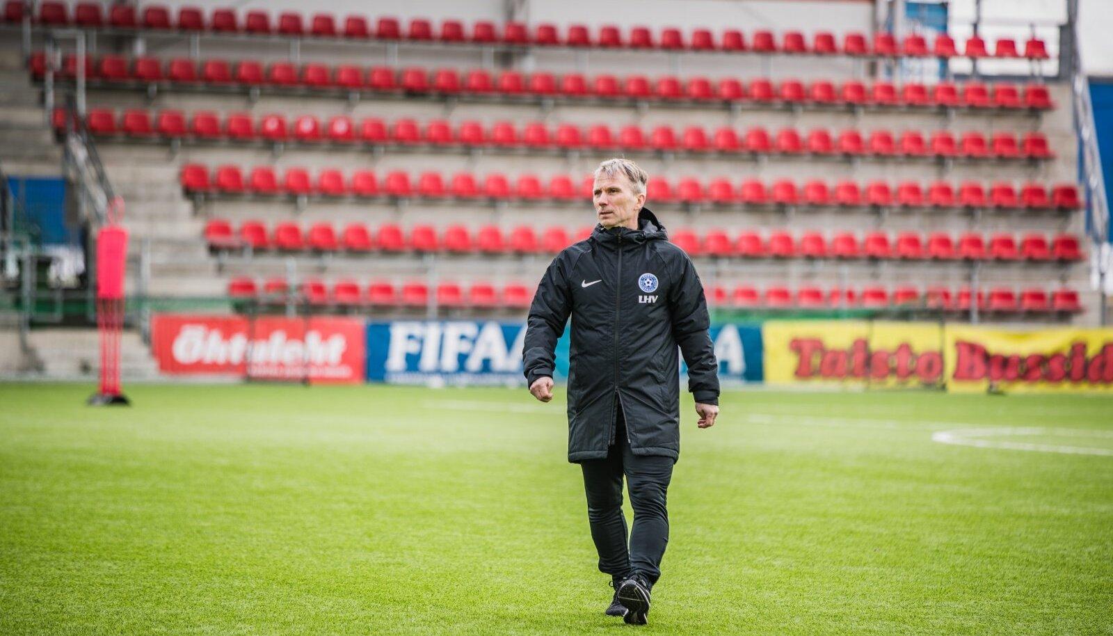 Martin Reim tänasel Eesti koondise treeningul.