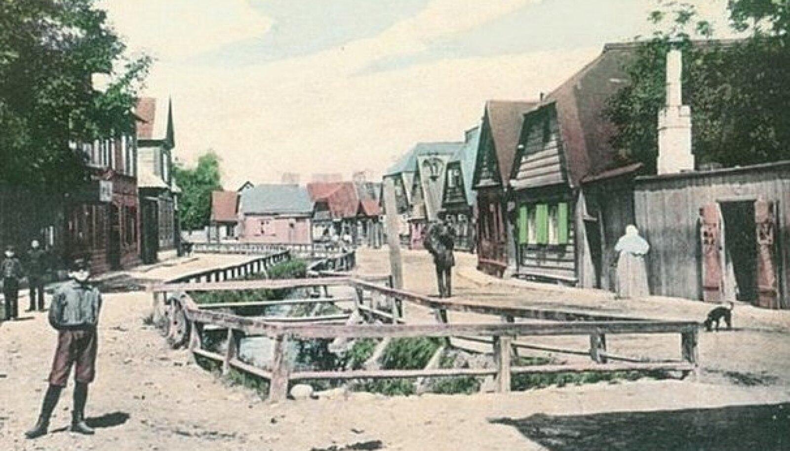 Härjapea jõega on seotud Jõe tänav Tallinnas. Foto pärineb möödunud sajandi algusest.