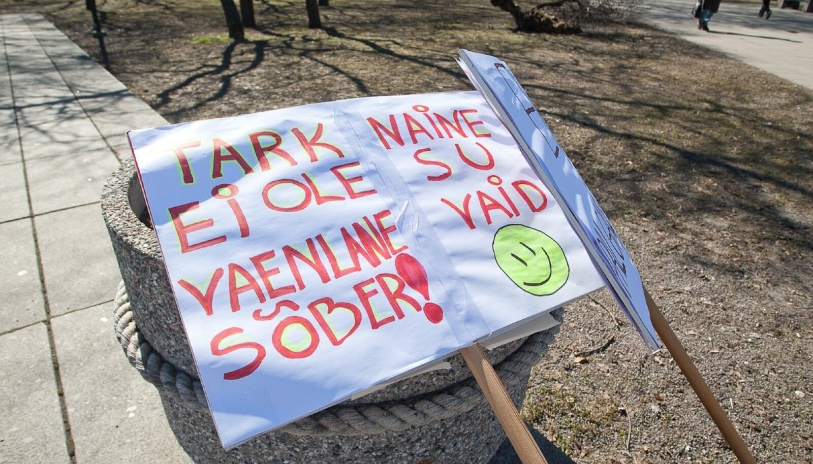 Palgalõhe meeleavaldus Tammsaare pargis