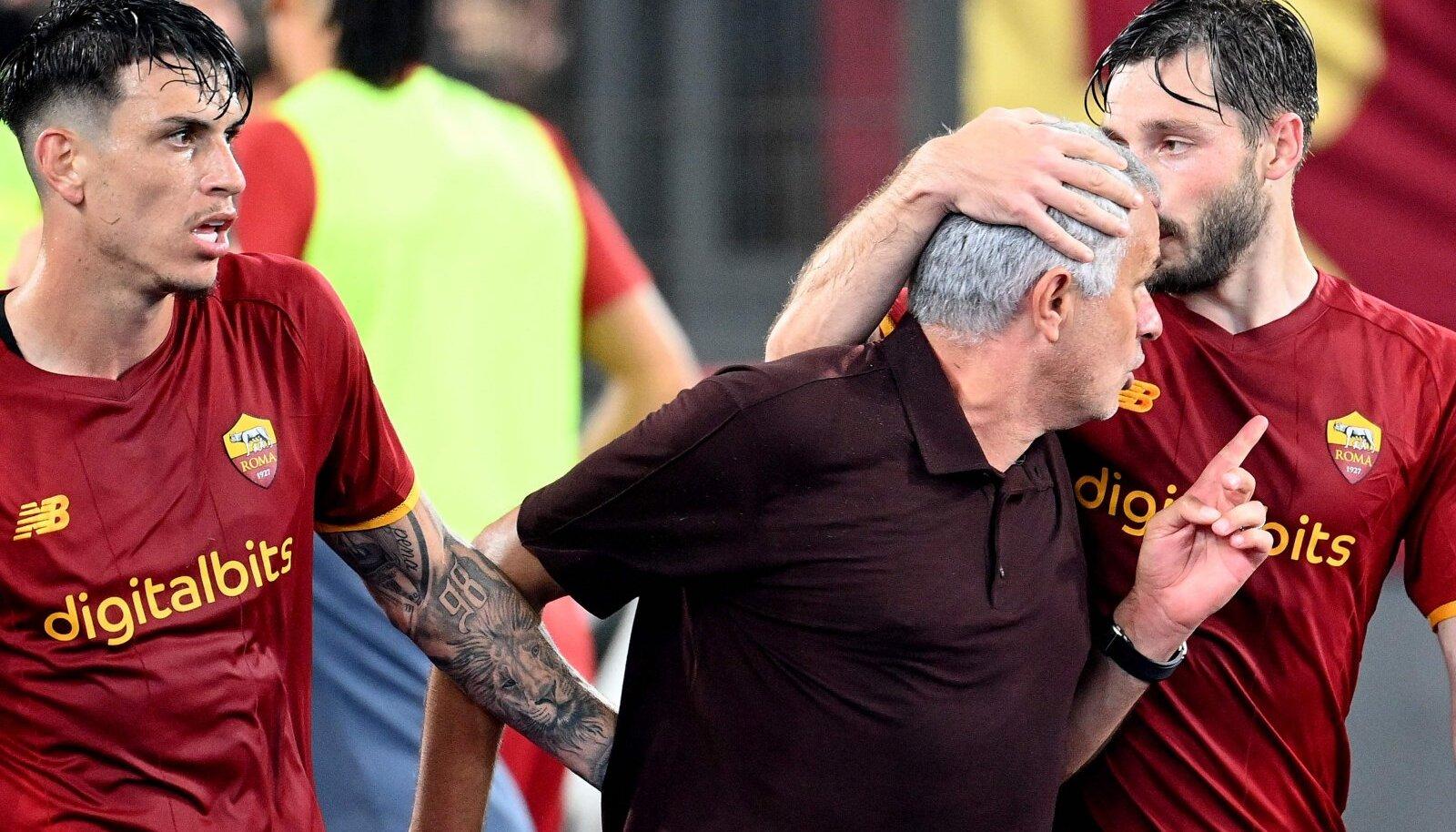 Jose Mourinho Roma mängijatega