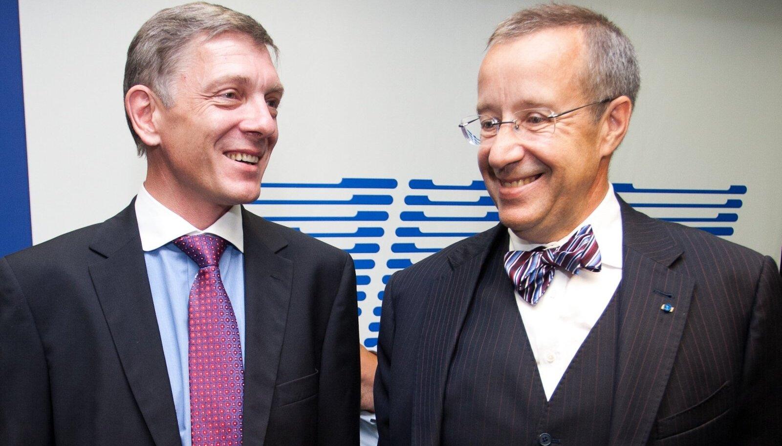 Indrek Tarand ja Toomas-Hendrik Ilves kümne aasta eest presidendiks kandideerimas
