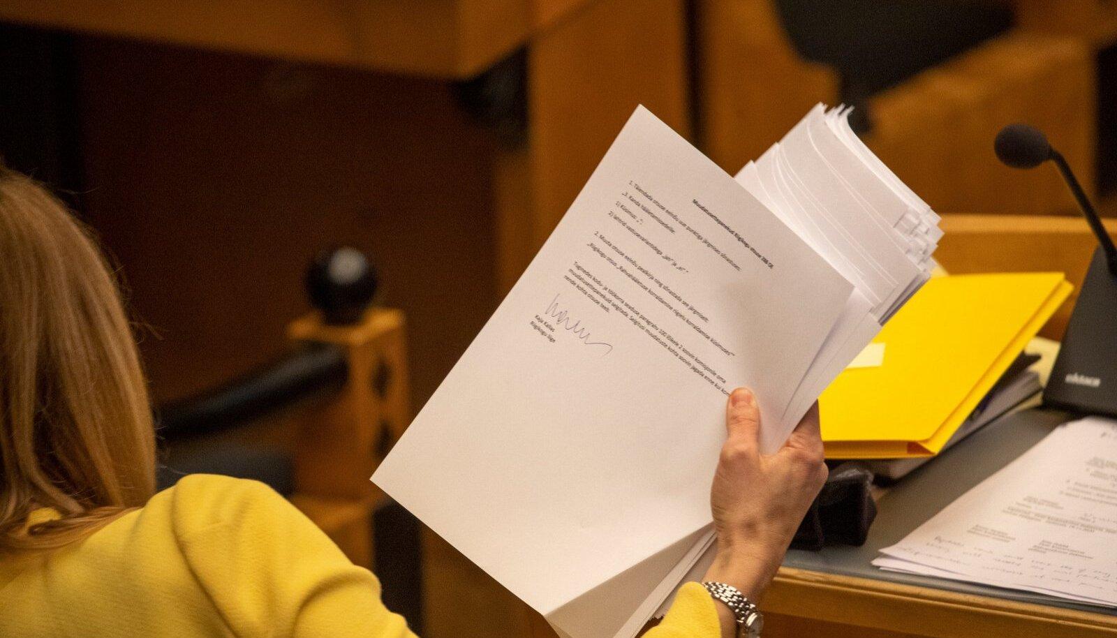 Abielureferendumi seaduseelnõu esimene lugemine 14.12.2020