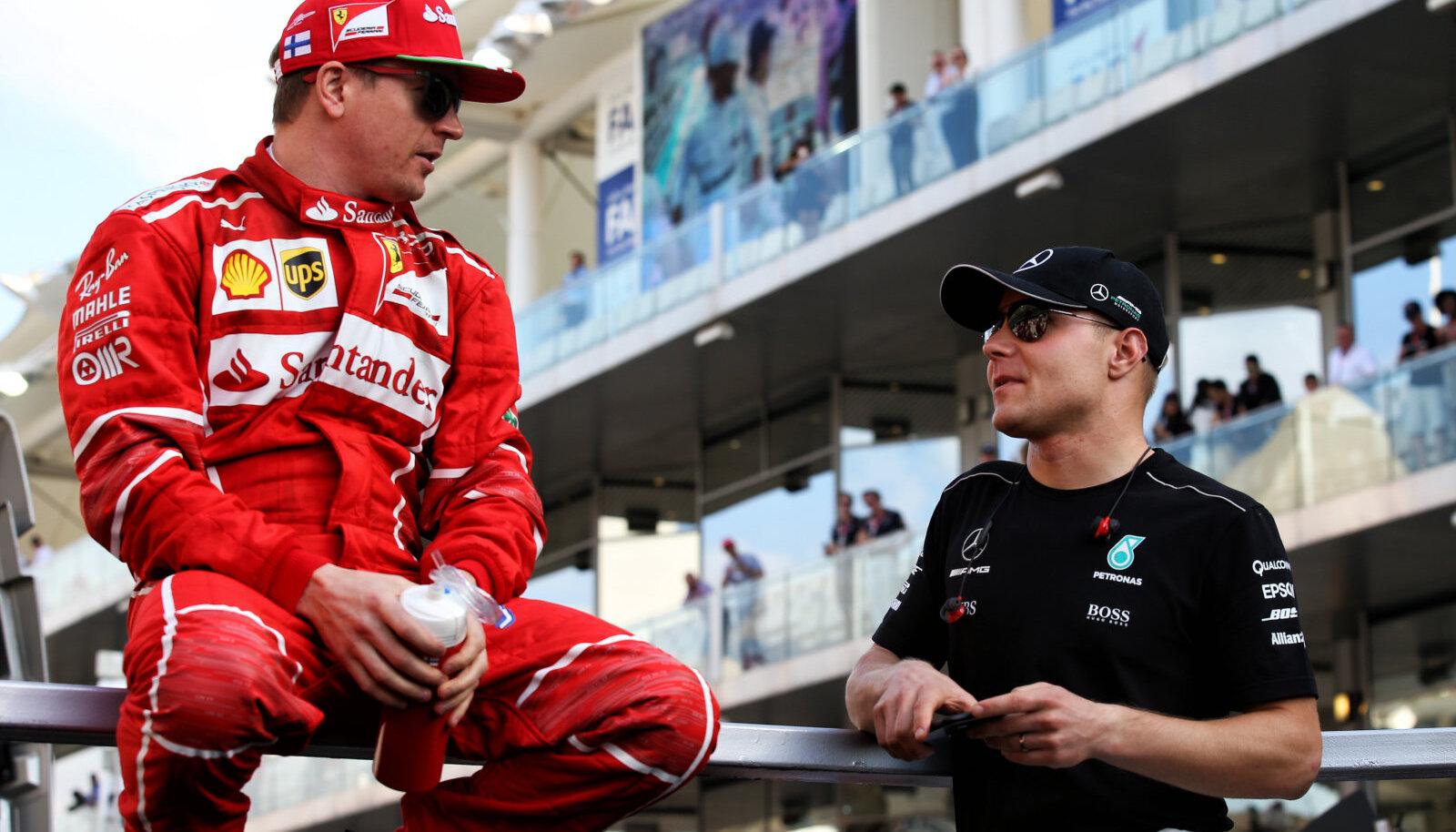 Kimi Räikkönen ja Valtteri Bottas 2018. aastal.