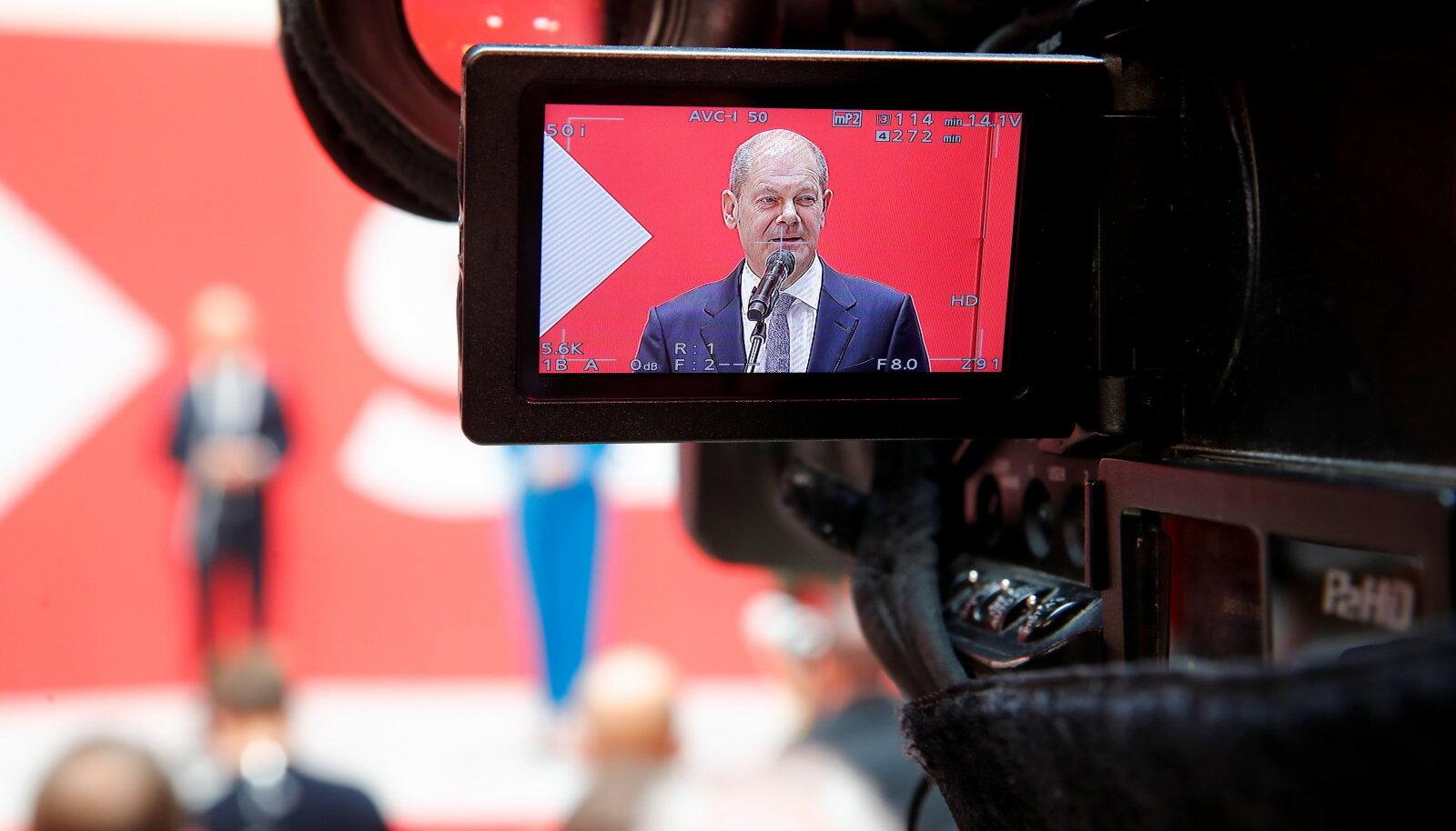 Olaf Scholz. Saksamaa Sotsiaaldemokraatlik Partei juht pressikonverentsil