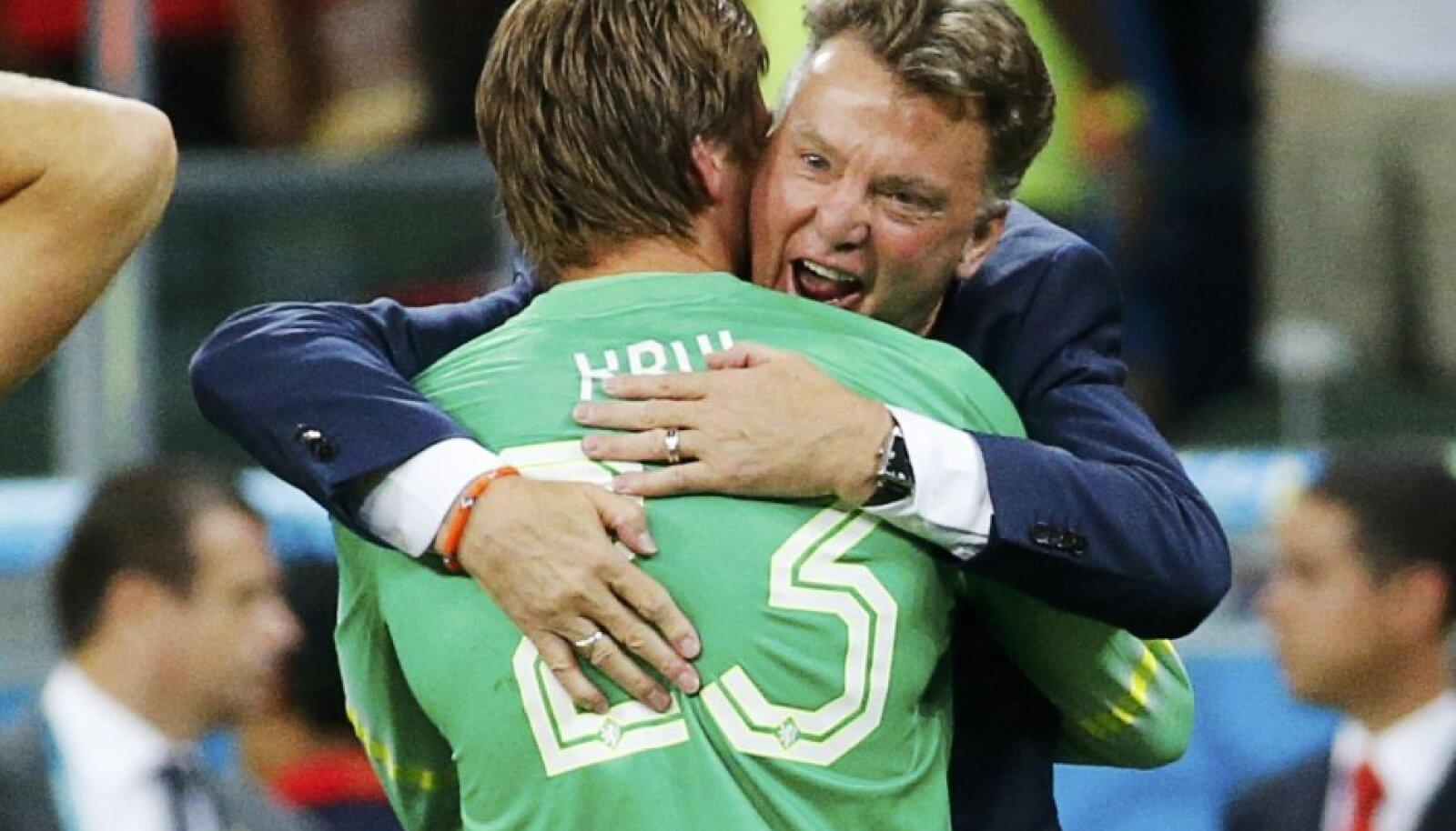 Louis van Gaal ja Tim Krul