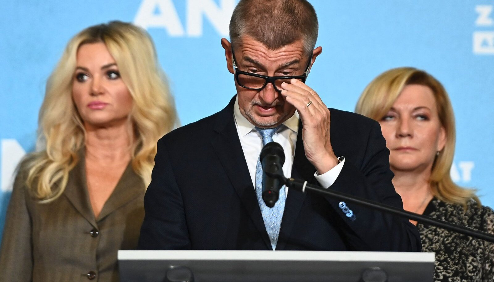Andrej Babiš valimisjärgsel pressikonverentsil