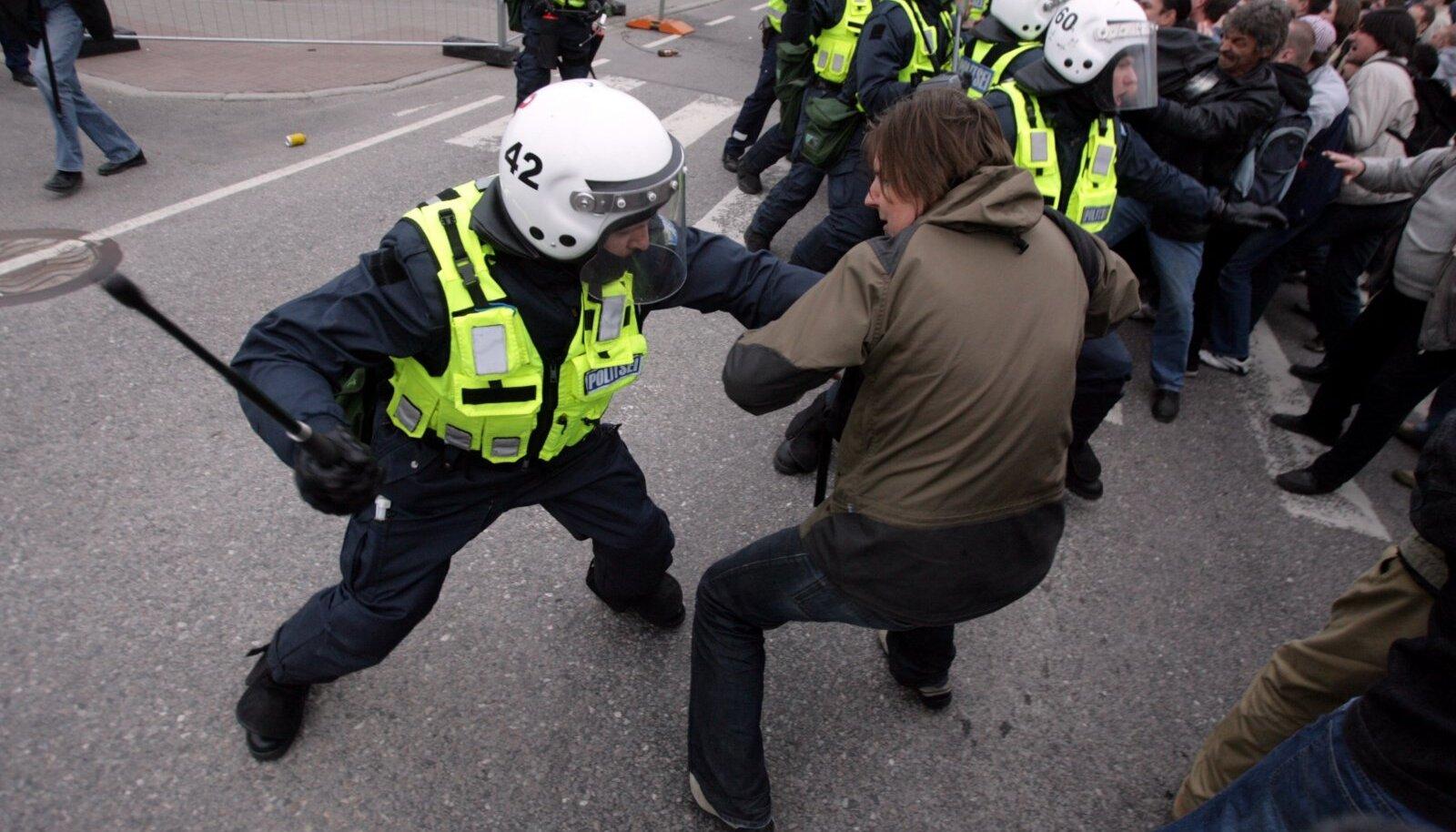 Pronksiöö rahutused 2007. aastal. Pilt on illustratiivne.
