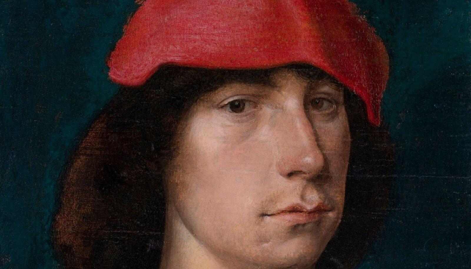 """KAS AUTOPORTREE? Michel Sittow võis maalis """"Noormees punase mütsiga"""" (1490. aastad) kujutada iseennast. Teos asub Detroiti Kunstiinstituudi kogus."""