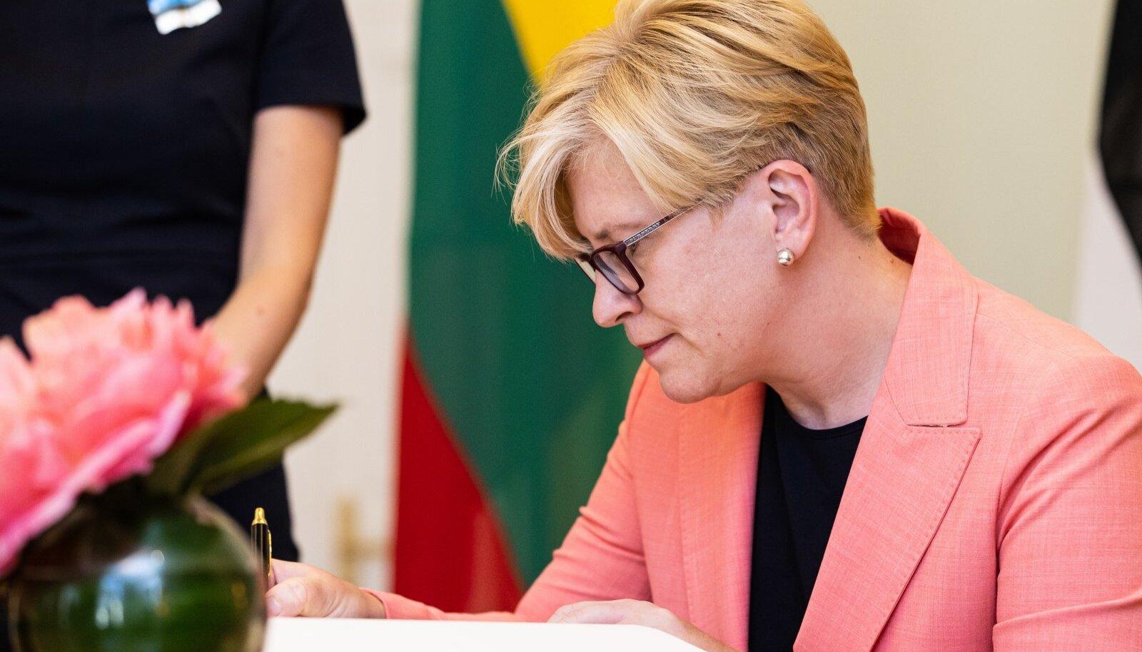 Leedu peaminister Ingrida Šimonytė Stenbocki majas 01.07.2021