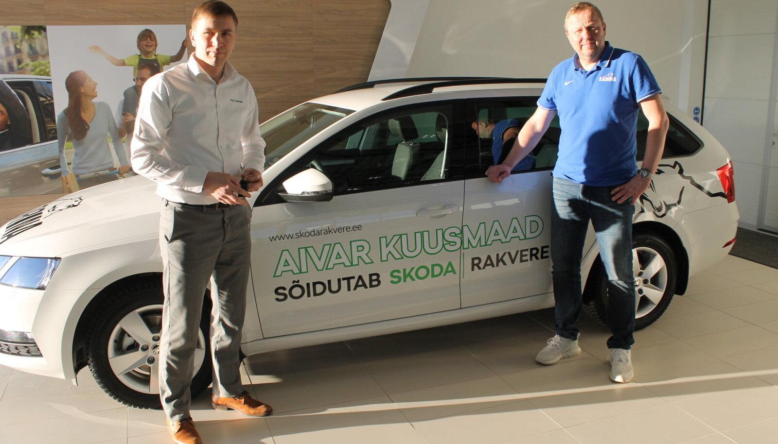 Aivar Kuusmaa sponsorautoga