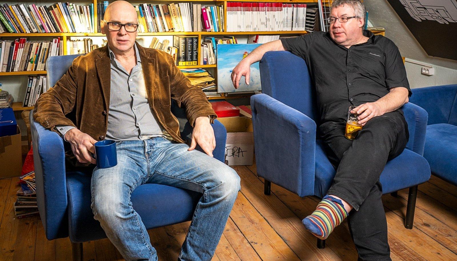 Filmimees Manfred Vainokivi ja kirjamees Peeter Sauter räägivad naistest.
